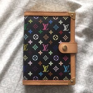 Louis Vuitton 6-ring agenda planner and wallet.